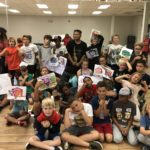 Kids with Bboy Tinz and Graffiti Writing Art