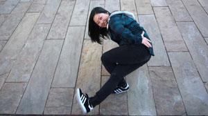 Sarina Tamura aka Bgirl Sarina in Breaking Dance Freeze.